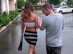 Sexy Fiona in a skin-tight miniskirt
