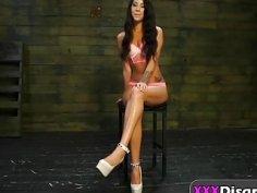 Rough anal fucking and bondage with nasty brunette slut Esmi Lee and big cocked stud