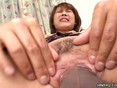 Sakurako getting her slime pussy hole fingerfucked