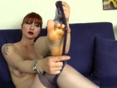 Redhead In Nylons Is Full Of Surprises