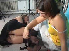 Silke Tortures Dana Pt. 2 Foot Worship