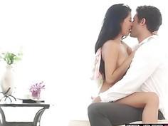 Megan Salinas getting bent over the dresser by her boyfriend