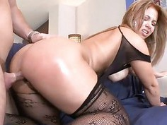 Two babes receive pleasured so well by one man