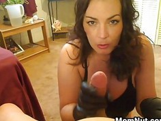 Smoking MILF Gives A Hand Job POV