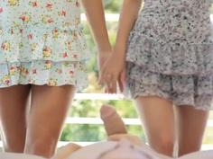 Charlotte & Paloma giving head