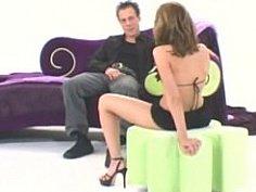 Beautiful babe in lingerie masturbating & ass fucking
