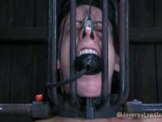 Elise Graves has got a slave cage installed on her head