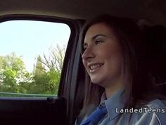 Stranger bangs teen police woman in his car