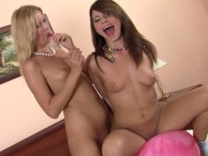 Slutty Hailey licks and stretches her friend's asshole